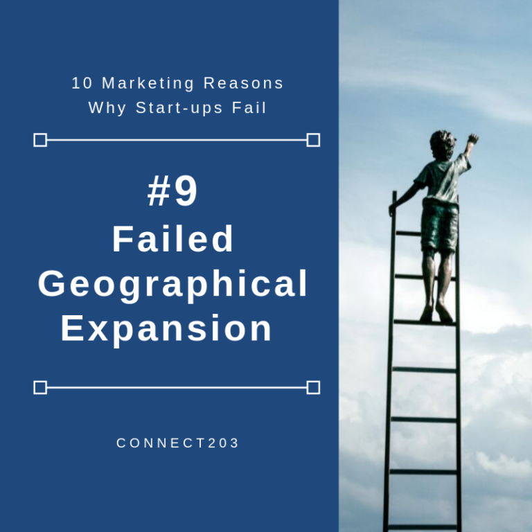 10 Marketing Related Reasons Why Startups Fail​ #9 Failed Geographical Expansion