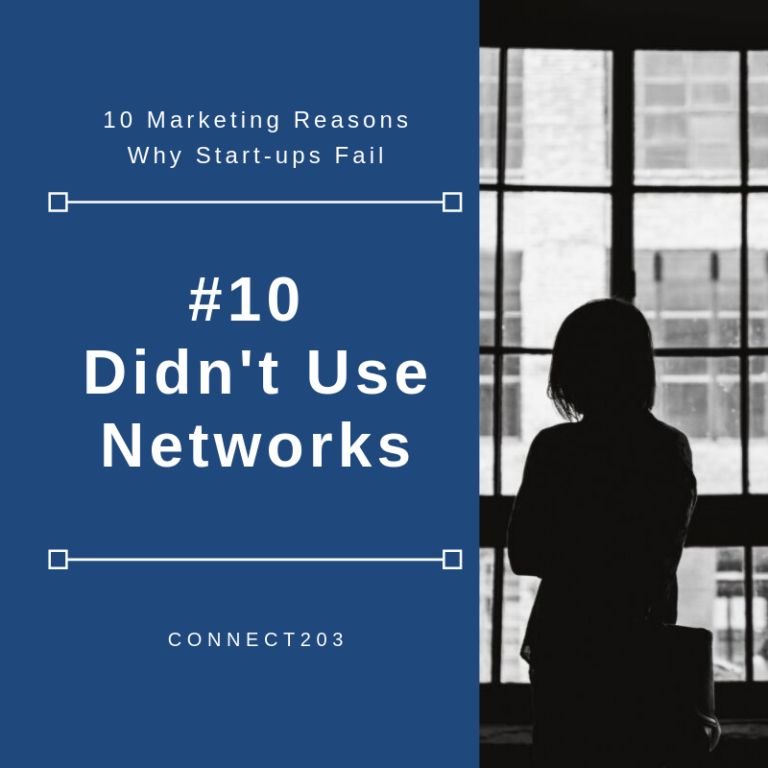 10 Marketing Related Reasons Why Startups Fail​ #10 Didn't Use Network