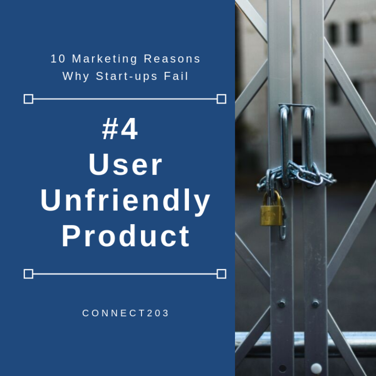 10 Marketing Related Reasons Why Start Ups Fail #4 User Unfriendly Product